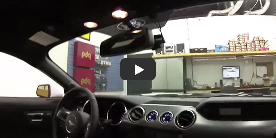 DR650GW-2CH Installation on 2015 Ford Mustang
