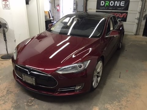 BlackVue DR650GW-1CH Install in 2012 Tesla Model S with Panoramic Roof