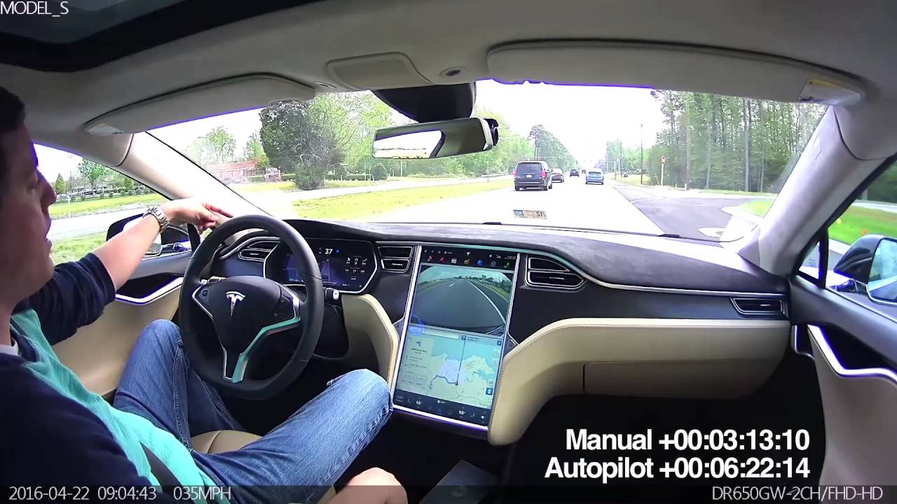 Inside a Tesla in Autopilot Mode with BlackVue