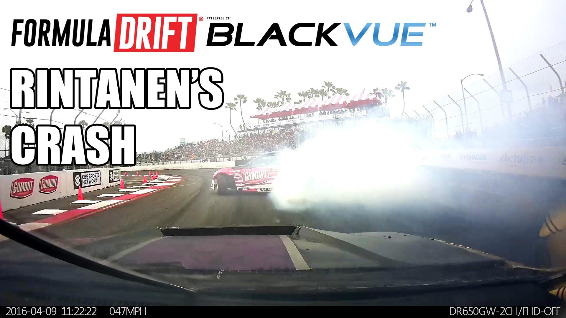[Formula Drift] Go Hard or Go Home – Juha Rintanen's Crash in Long Beach