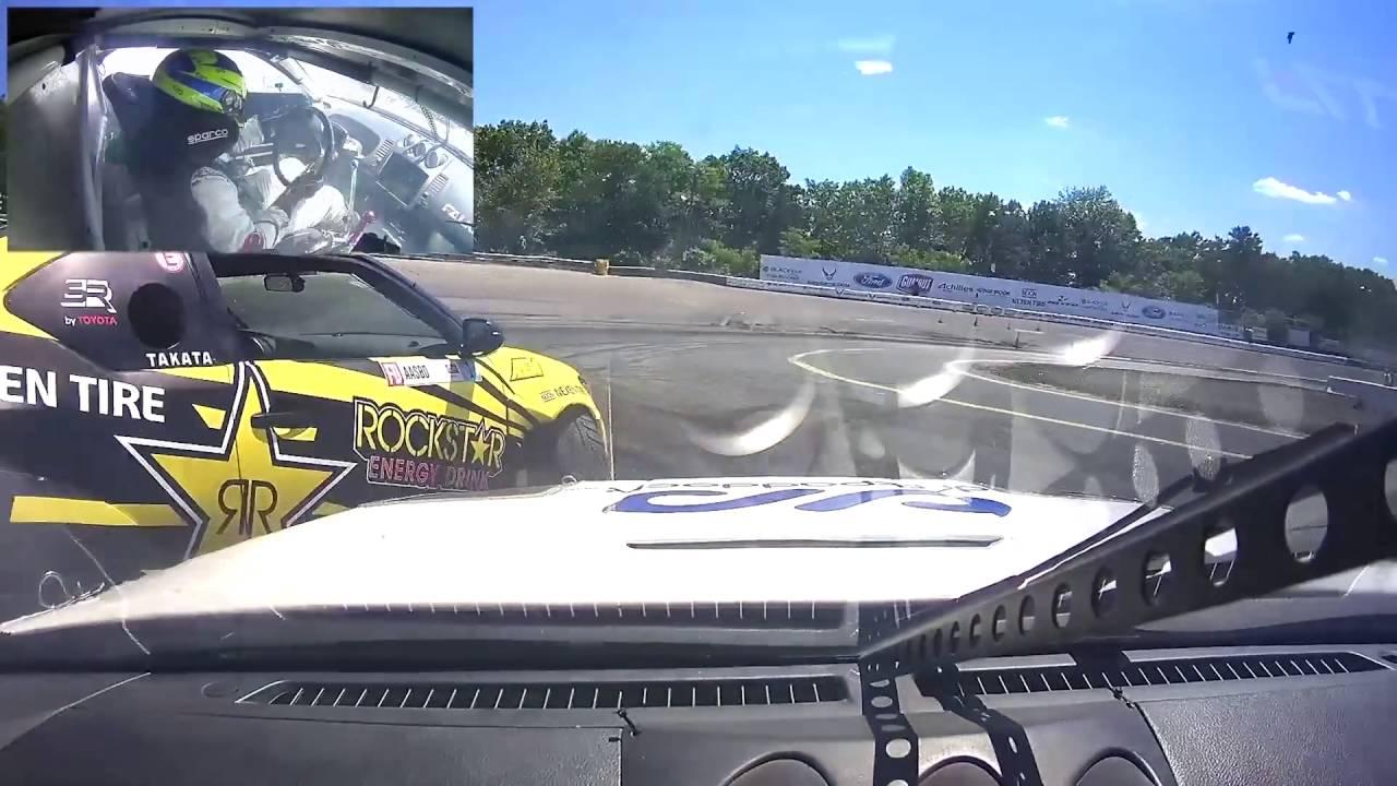[Formula Drift New Jersey 2016] Dashcam footage of Patrick Mordaunt vs Fredric Aasbo