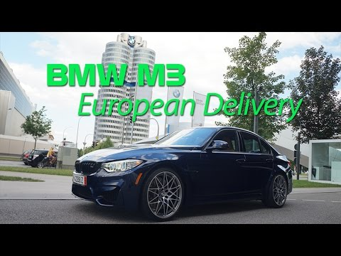 European Delivery of 2016 BMW M3 Competition Package with BlackVue DR650S-2CH!