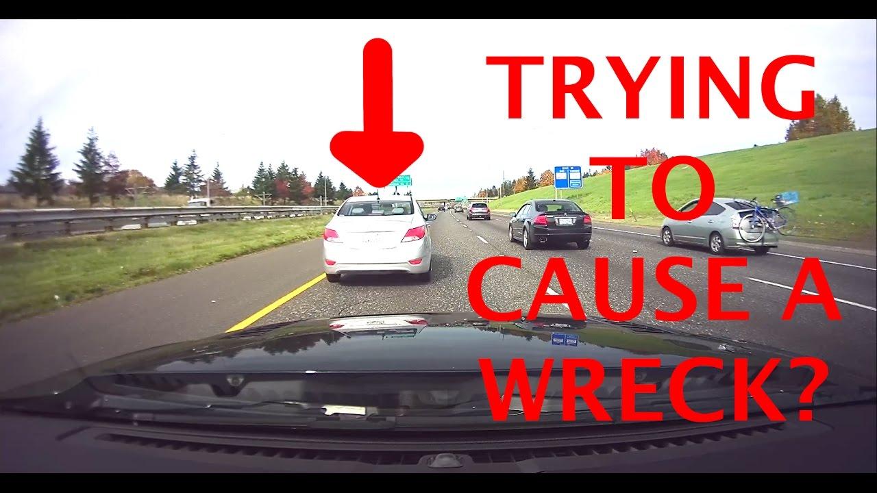 [BlackVue Footage] Car Brake Checking On Highway Fast Lane