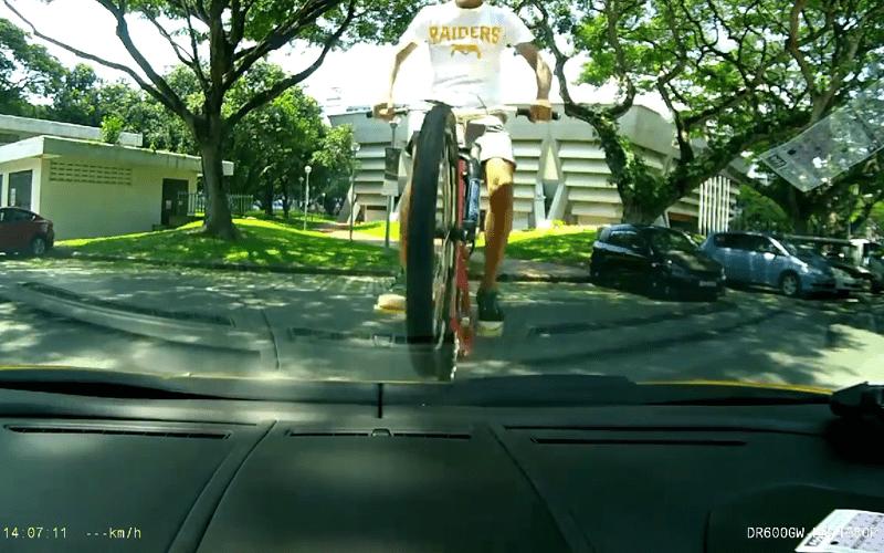 BlackVue captures a teen riding his bike… over a Lamborghini