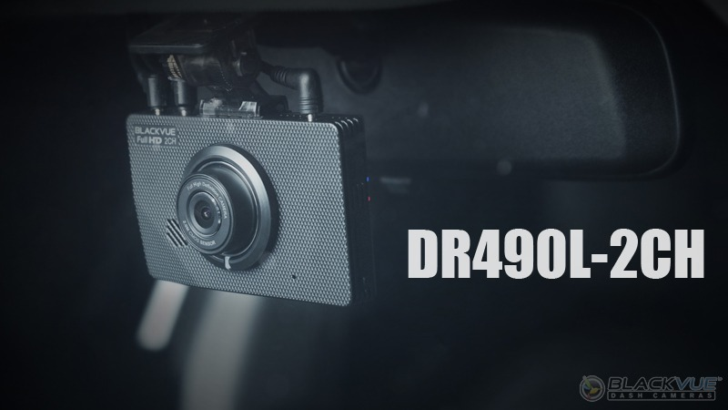 New LCD Dashcam DR490L-2CH Is Now Available