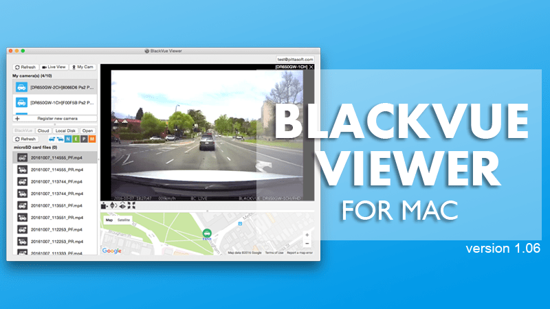 BlackVue Mac Viewer Update – Version 1.06