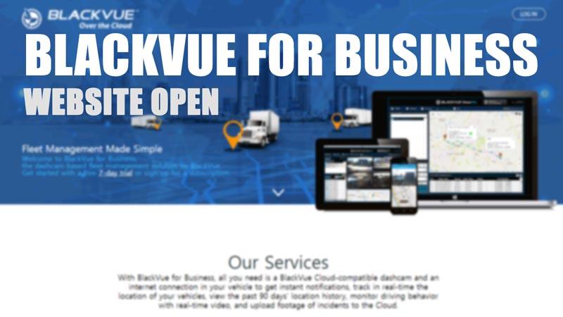 BlackVue for Business Website Open