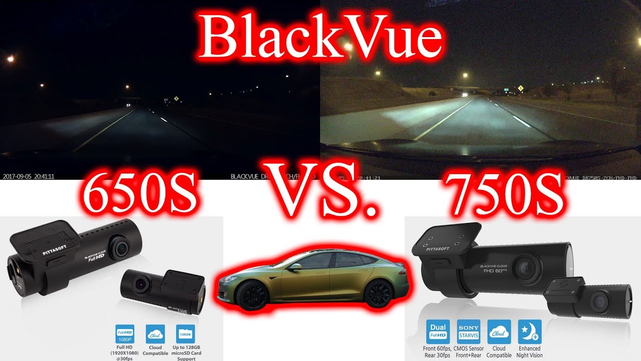 BlackVue DR650S VS DR750S Comparison on Tesla