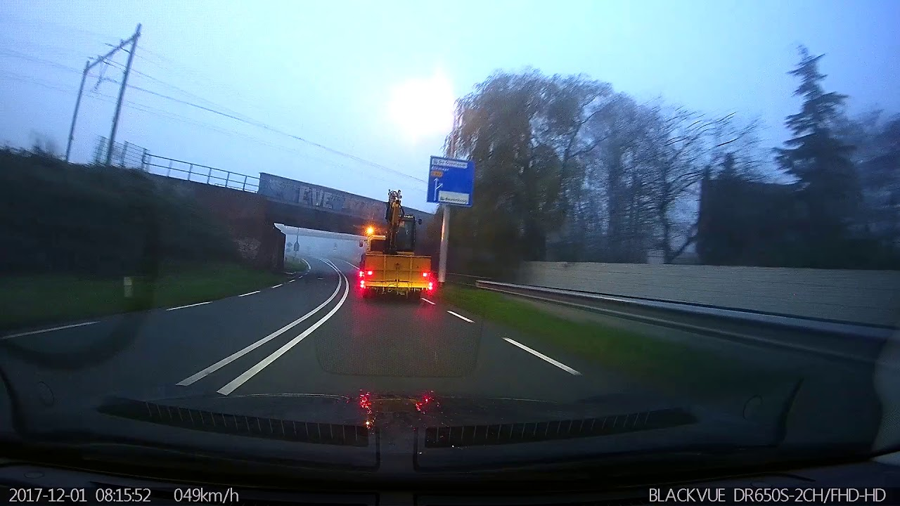 BlackVue Catches Excavator Colliding With a Bridge
