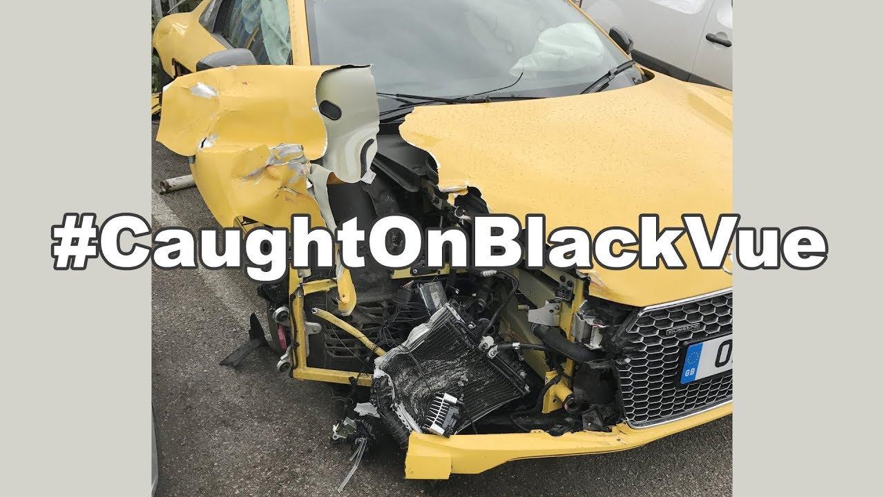 [Caught on BlackVue] Double Collision Caught Dashcam