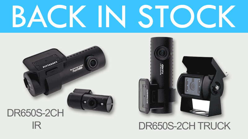 [BlackVue Online Store] DR650S-2CH TRUCK and IR Back in Stock