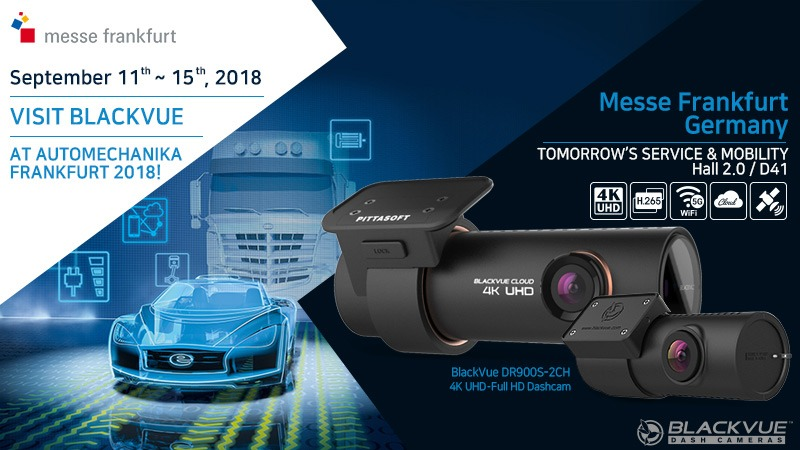 [Trade Show] Visit BlackVue Dash Cameras at the 25th Automechanika Frankfurt