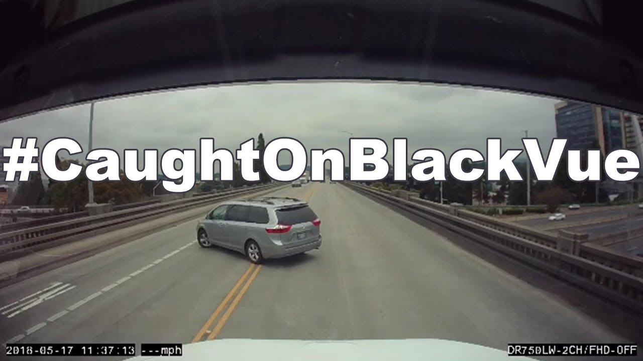 #CaughtOnBlackVue: Driver Pulls U-turn on Ross Island Bridge