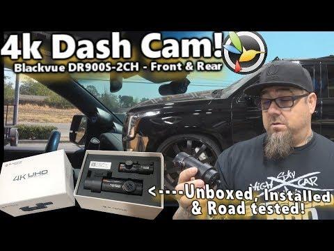 BlackVue 4K UHD DR900S-2CH Dashcam Installed In 2015 Cadillac Escalade