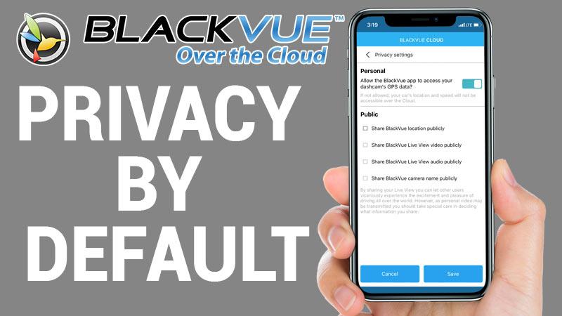 [BlackVue Cloud] Privacy by Default
