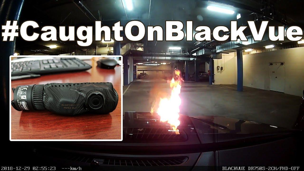 Crazy Burning Car Video Recorded By BlackVue Dashcam