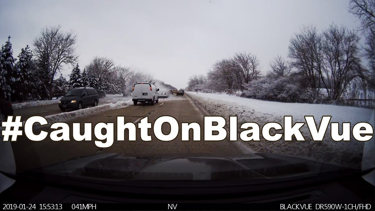 SUV Crashes In The Snow #CaughtOnBlackVue