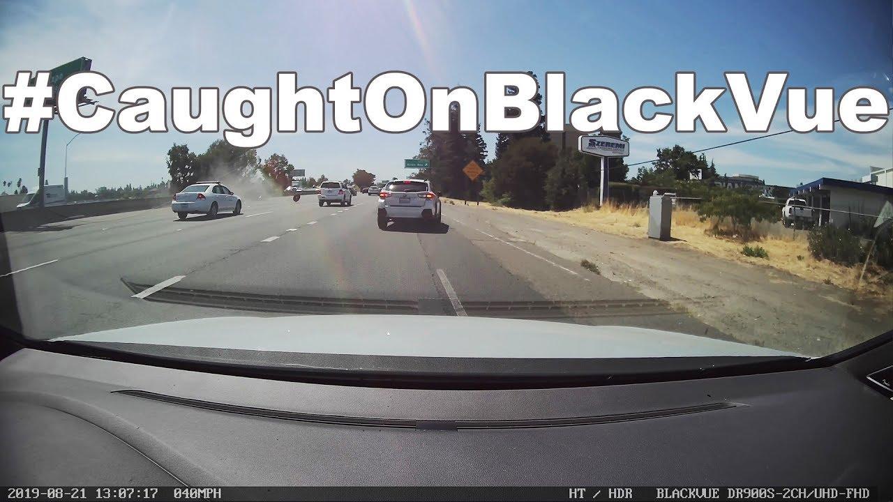 Dangerous Highway Rollover #CaughtOnBlackVue