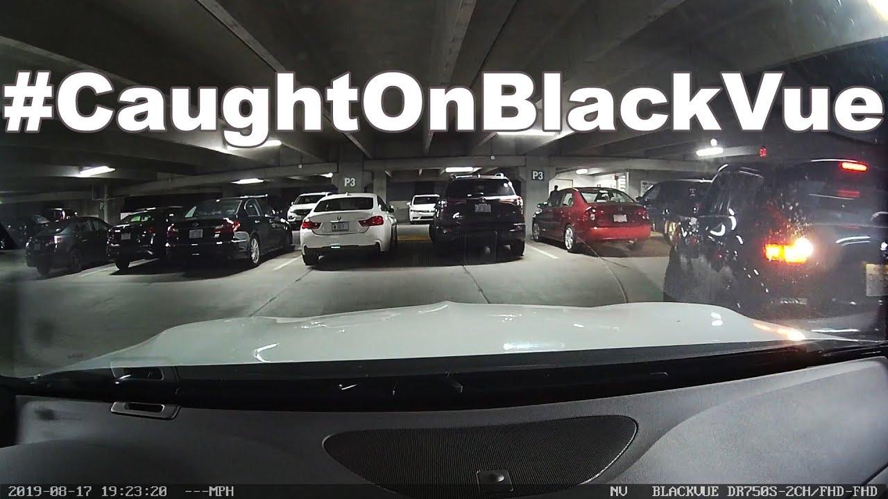 Underground Parking Lot Hit & Run #CaughtOnBlackVue