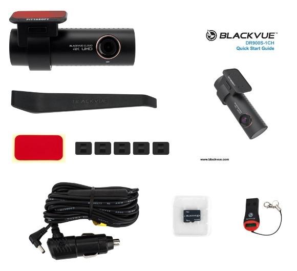 16GB, 32GB, 64GB, 128GB 32GB Blackvue BV-DR900S-1CH-32 4K UHD DashCAM