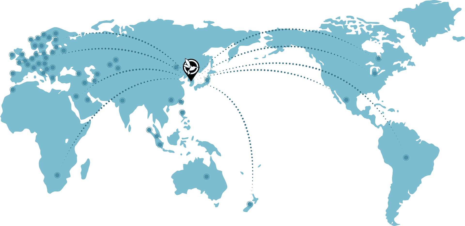 map of BlackVue distributors worldwide