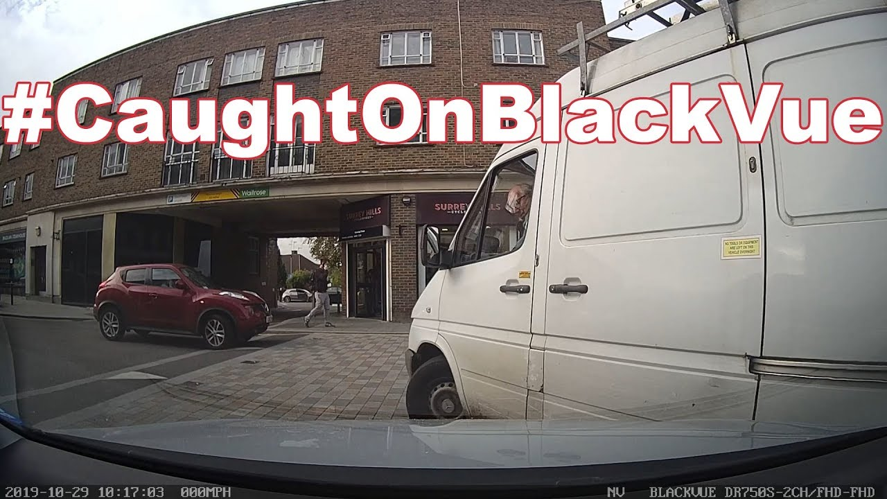 This hit & runner left an illegible note… #CaughtOnBlackVue