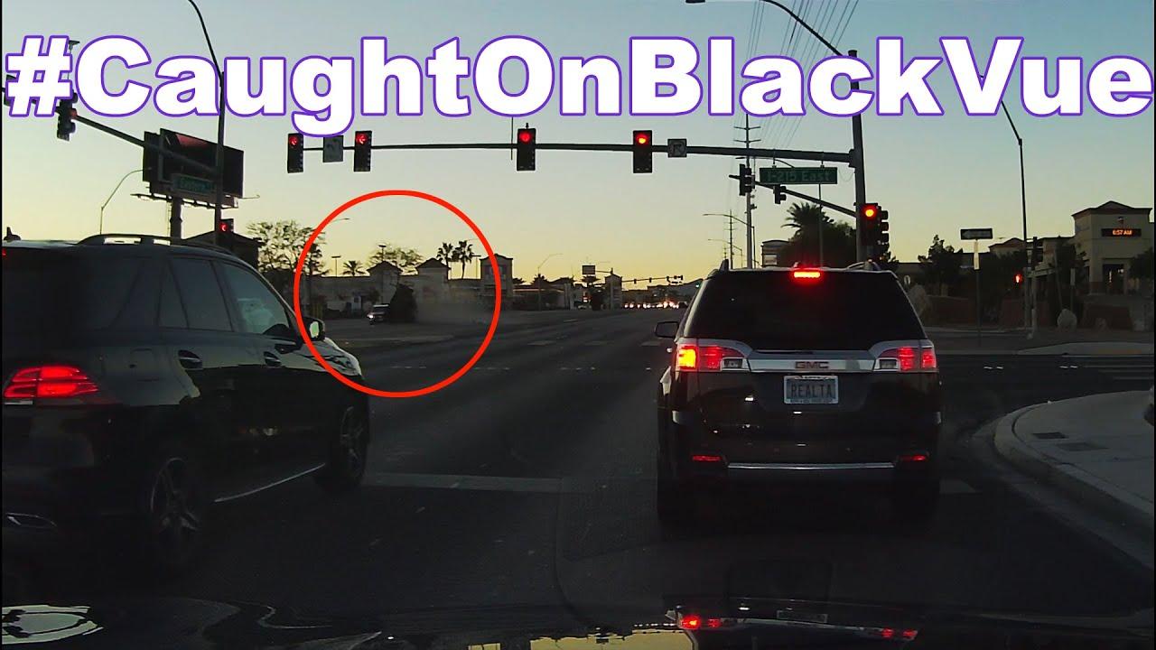 Driver Crashes Into 4K-pound Art Piece In Las Vegas #CaughtOnBlackVue
