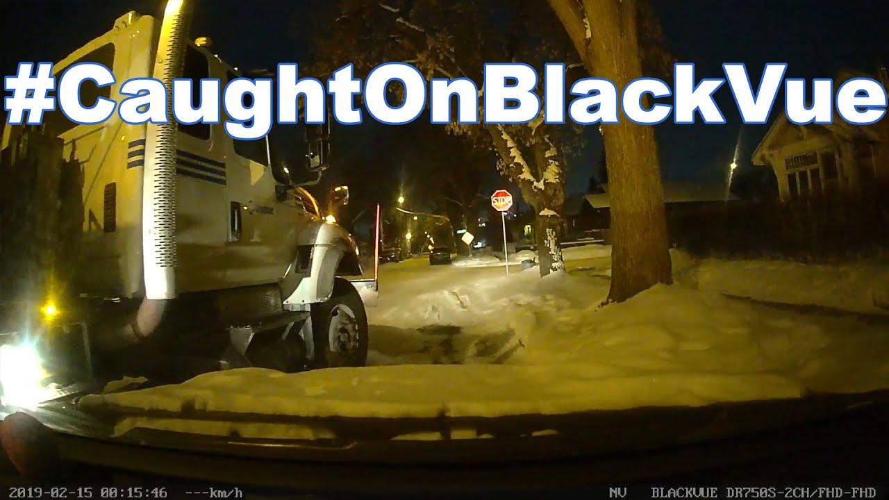 Hit By A Snowplow #CaughtOnBlackVue