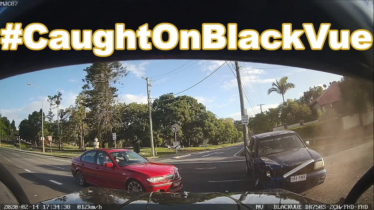 DUI Driver Causes 3 Car Collision #CaughtOnBlackVue