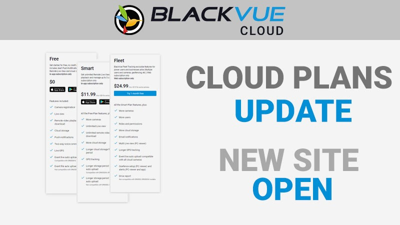 BlackVue Cloud Subscriptions Update and New blackvuecloud.com site