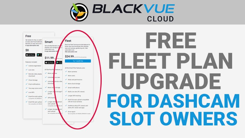 [BlackVue Cloud] Dashcam Slot Owners Eligible for Free Renewable Yearly Fleet Plan