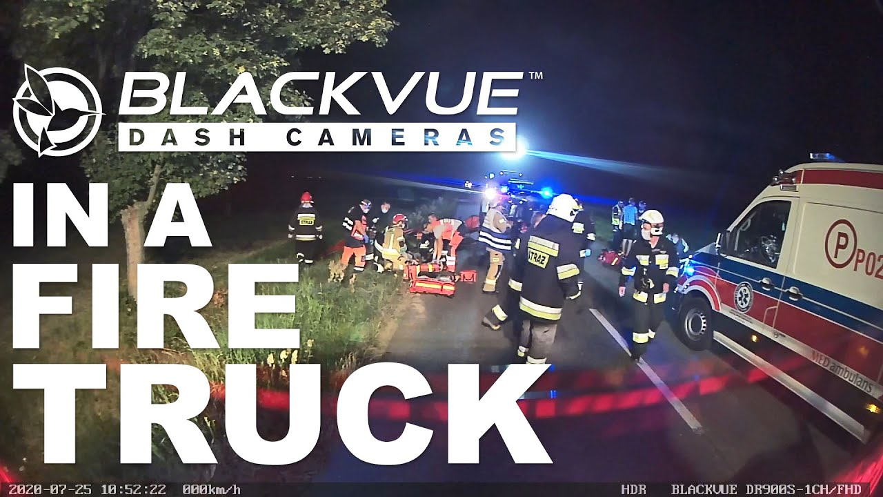 Fire Truck Equipped With BlackVue Dashcam