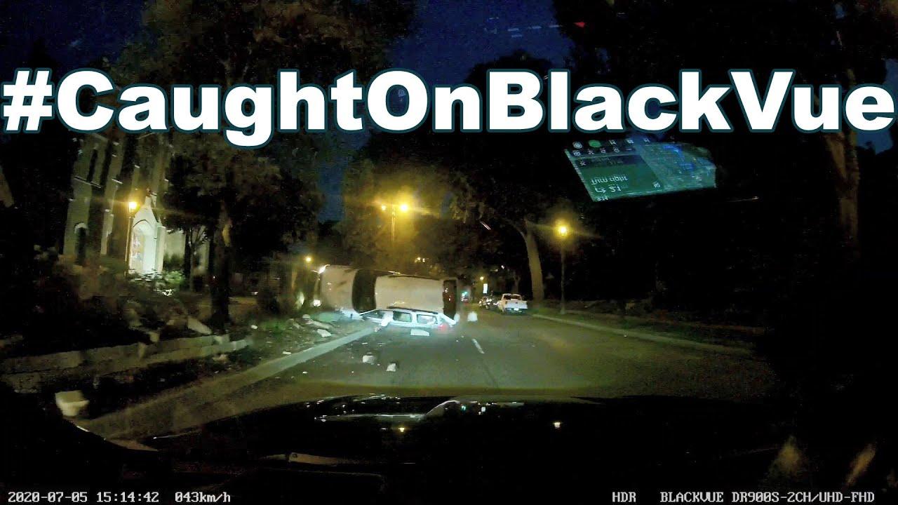 Stolen vehicle CRASHED #CaughtOnBlackVue