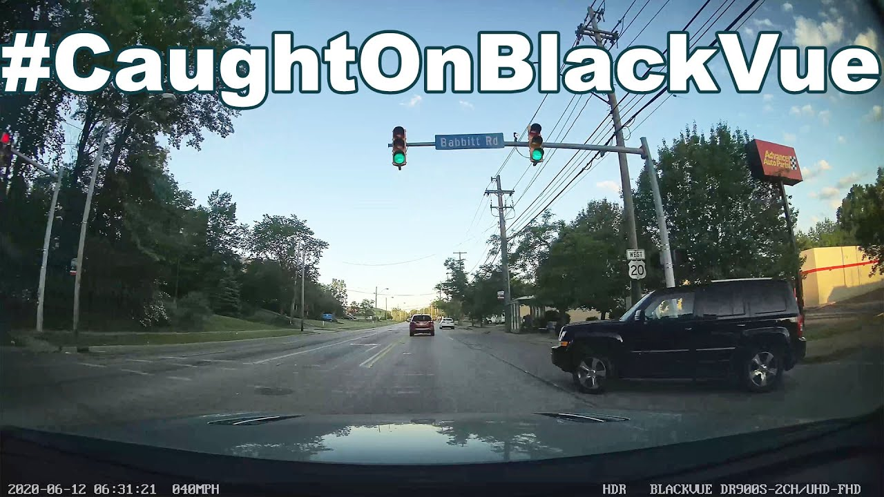 Illegal Left Turn Ends In A Collision #CaughtOnBlackVue