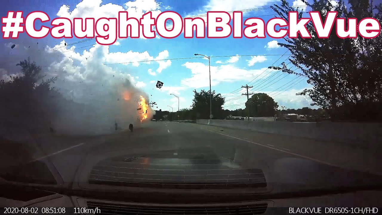 Fiery Highway Roll-over #CaughtOnBlackVue