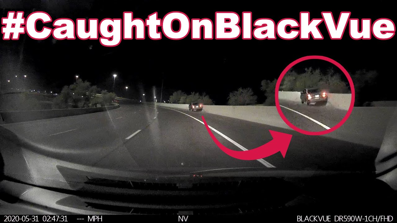 Impaired Driver Hitting the Wall on a Highway #CaughtOnBlackVue