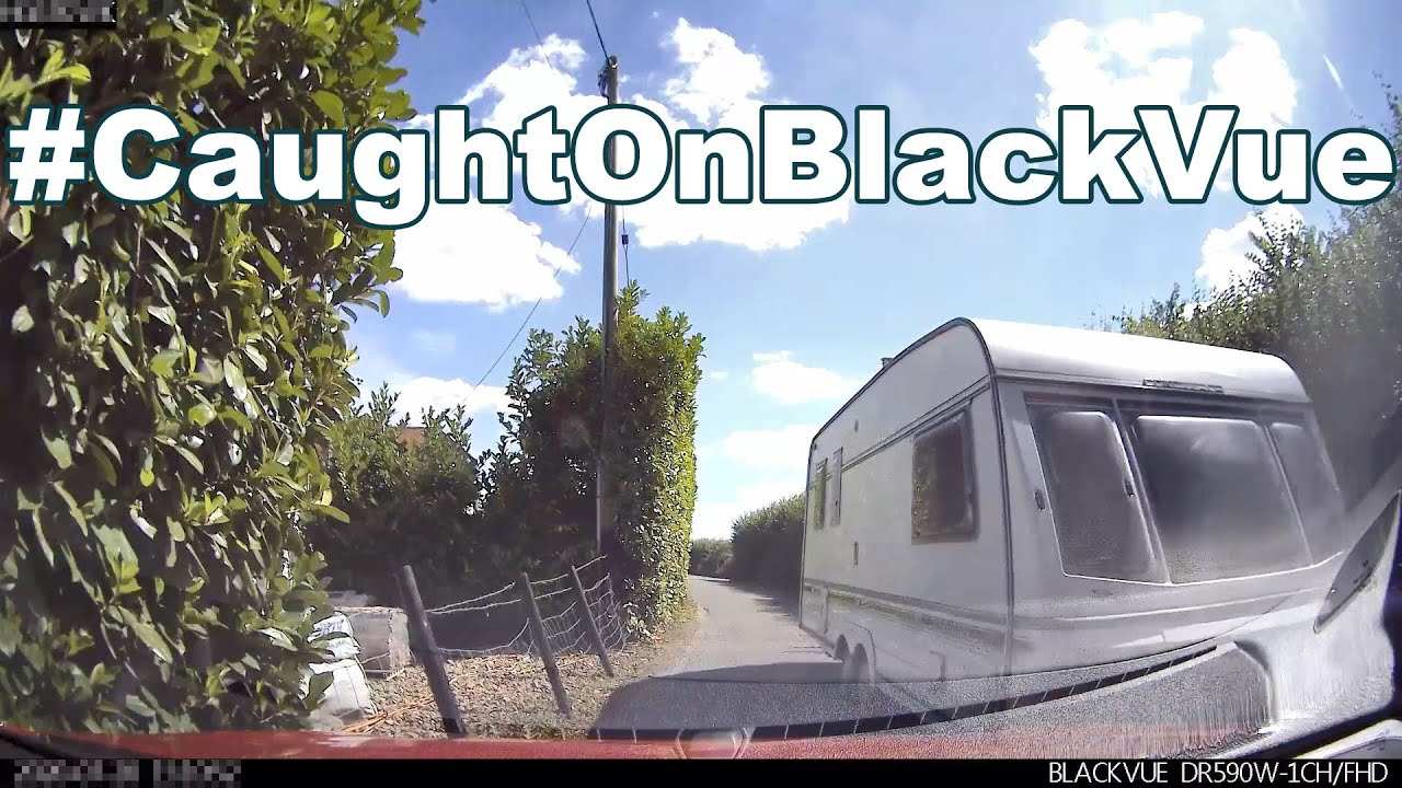Stationary Car Hit By A Caravan #CaughtOnBlackVue