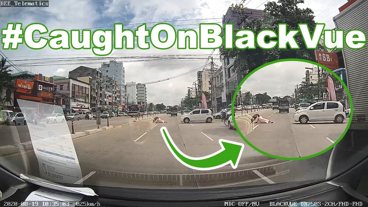 A Buddhist Nun Hit By An Oncoming Car #CaughtOnBlackVue