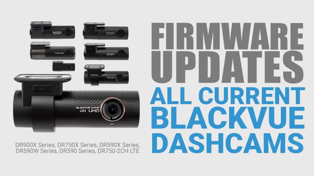 Firmware updates for all current BlackVue dashcams