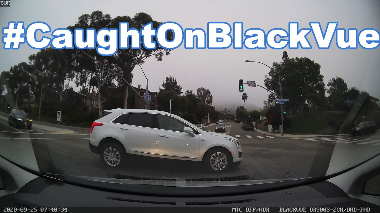 Red Light Runner At An Intersection #CaughtOnBlackVue