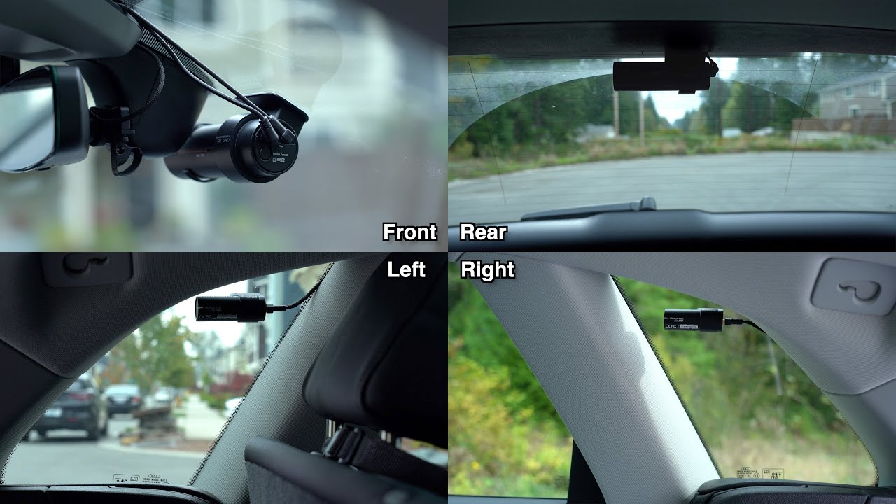 BlackVue 4 Channel Dashcam Setup: 360 Degree Recording By Vortex Radar
