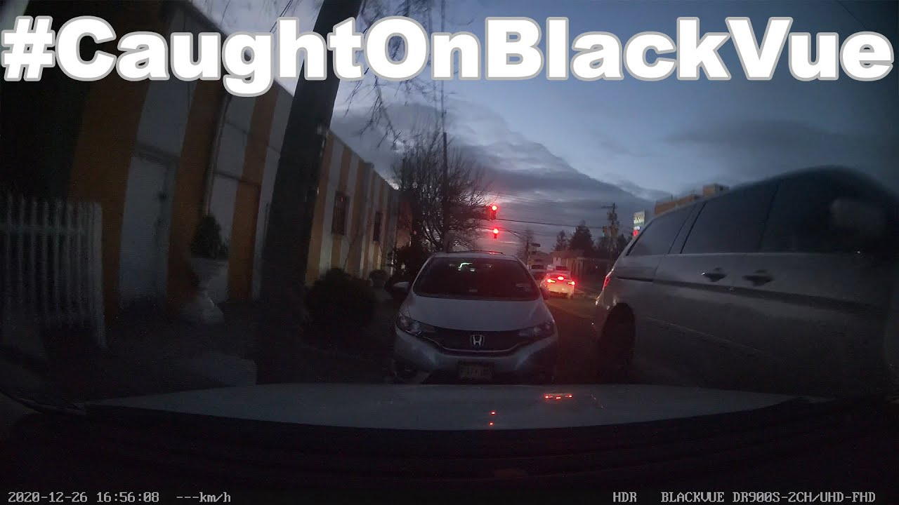 Unlicensed Driver Crashes Into a Parked Car #CaughtOnBlackVue