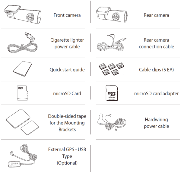What is included in the DR590X-2CH box