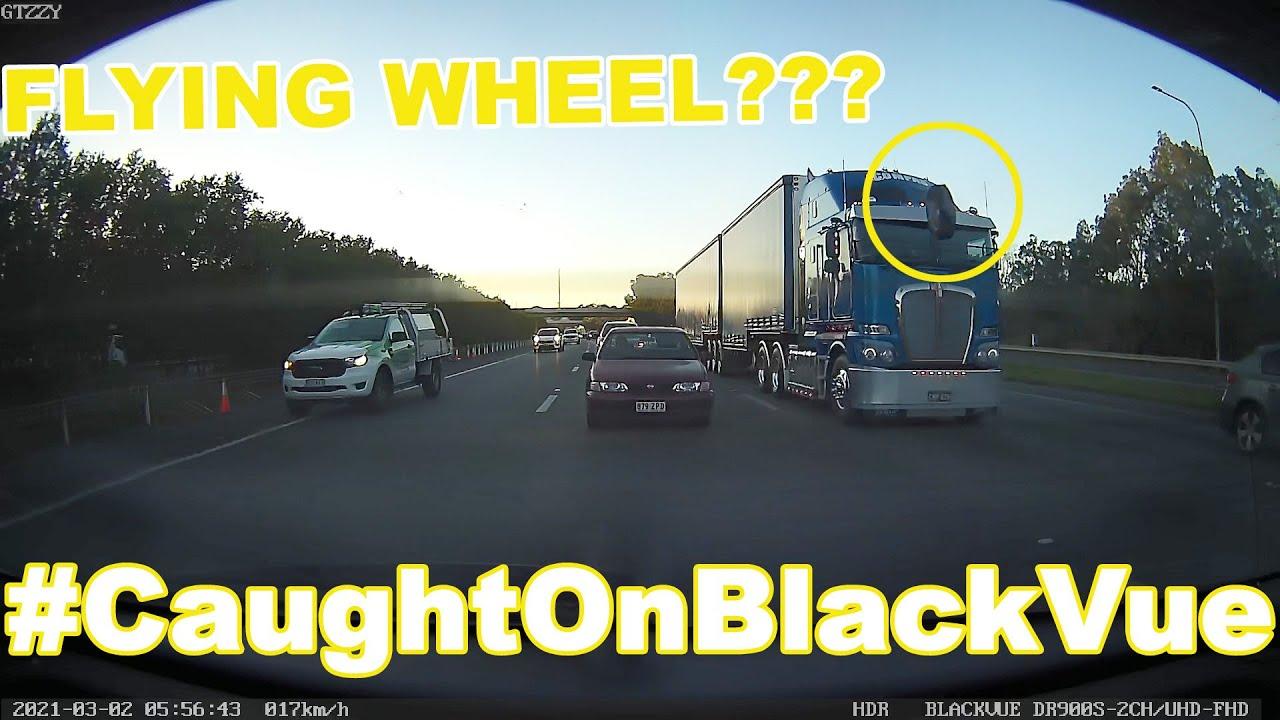 Flying Wheel On A Highway #CaughtOnBlackVue