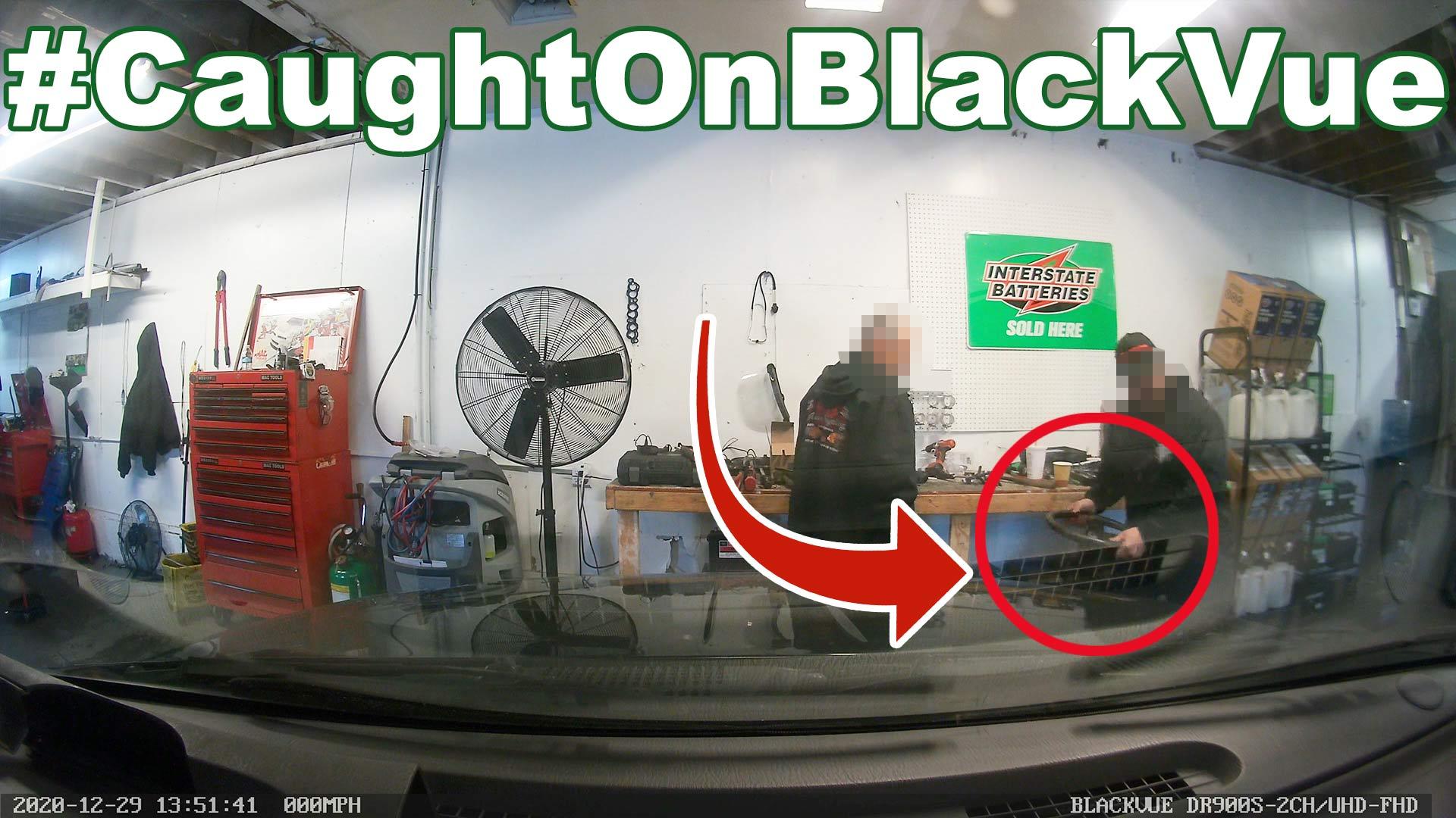 """""""Reputable"""" Repair Shop Throwing Steering Column #CaughtOnBlackVue"""