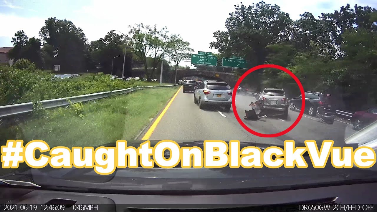 Multiple Car Crash On Highway #CaughtOnBlackVue