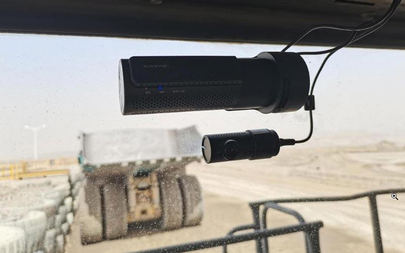 BlackVue DR750-2CH IR LTE in Komatsu truck
