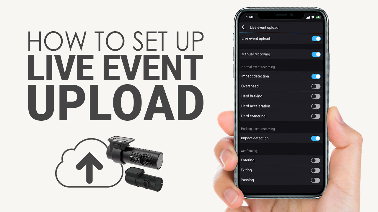 [BlackVue Cloud] How To Set Up Live Event Upload (Step by Step)