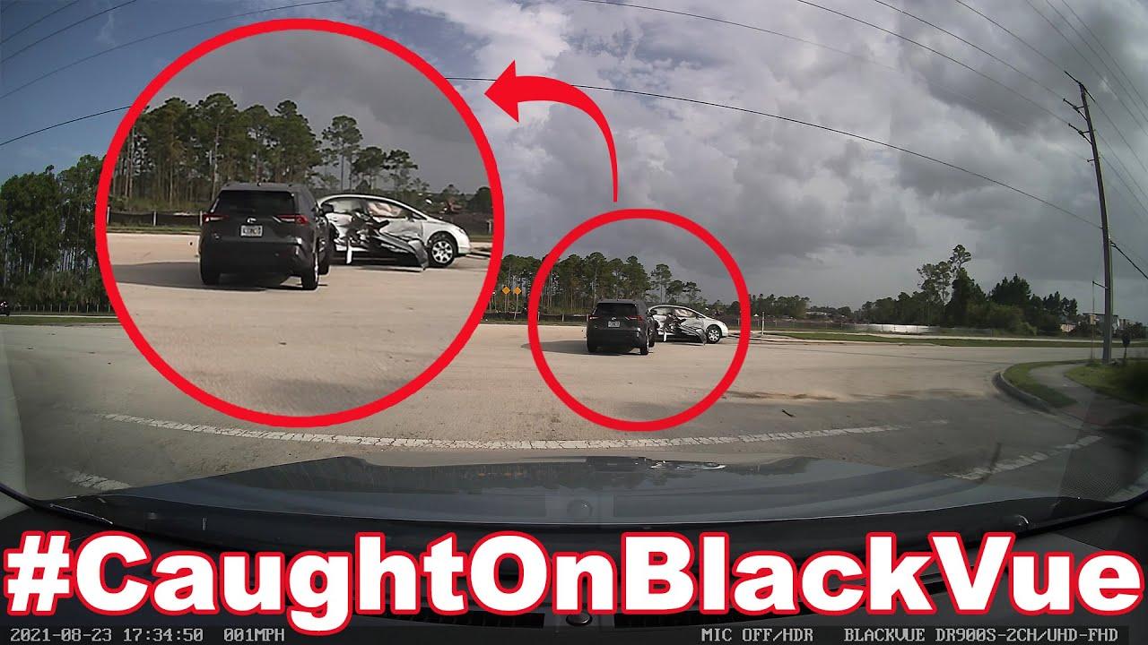 Dramatic Car Rollover #CaughtOnBlackVue