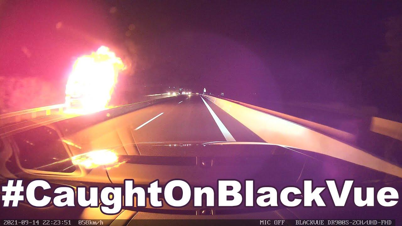 Truck On Fire #CaughtOnBlackVue